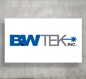 B&W Tek logo with background