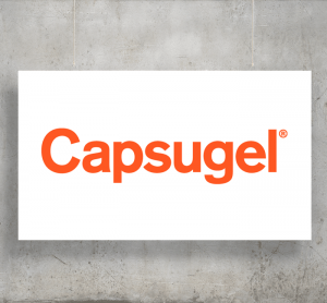 Capsugel logo with background