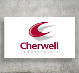 Cherwell Laboratories logo with background