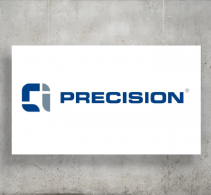 CL Precision logo with background