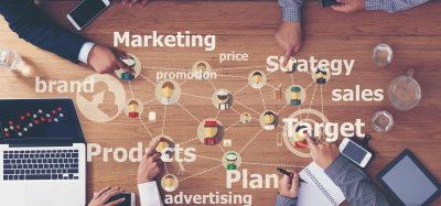 a web of elements that make up commercial strategy, including marketing, sales, products, targets etc