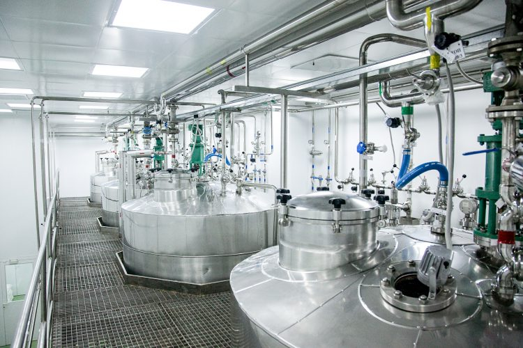photograph of a liquid pharmaceuticals manufacturing facility