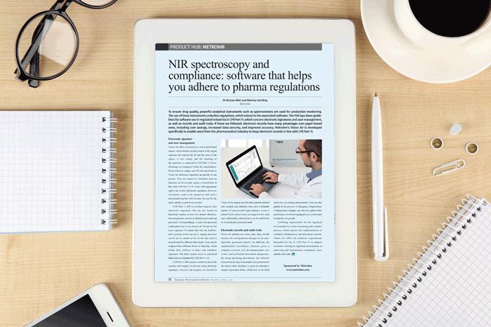 Metrohm - Product hub - NIR spectroscopy compliance