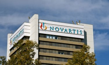Novartis logo on side of office building