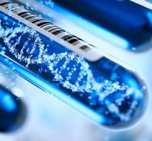 DNA molecule in a test tube