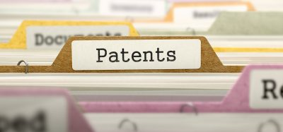 many file labels with patents in the centre