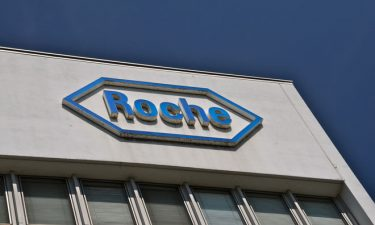 Roche logo on side of building