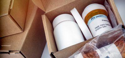 Pills bottles in box
