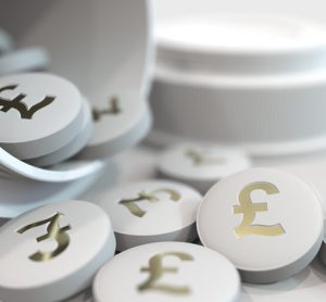 Pound sign on medicine pills