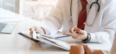 Clinical trial - doctor and patient