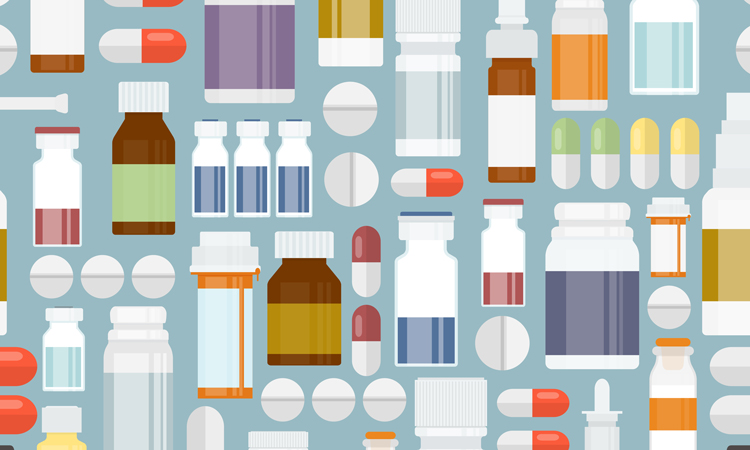 Vector of pharmaceutical packaging