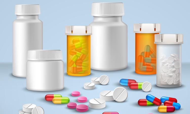 Image of various medicine bottles
