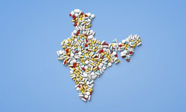 Pills in shape of India
