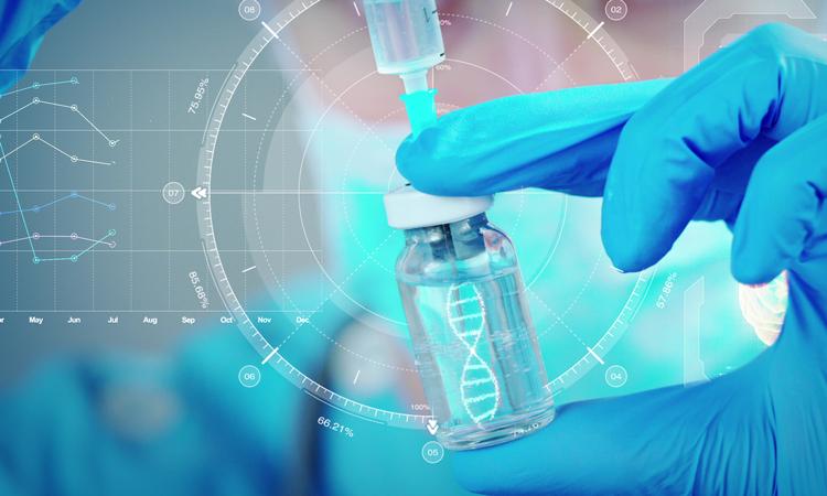 Hand holding biologic medicine