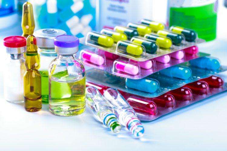 Pile of medicines