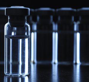 Vaccines on dark background