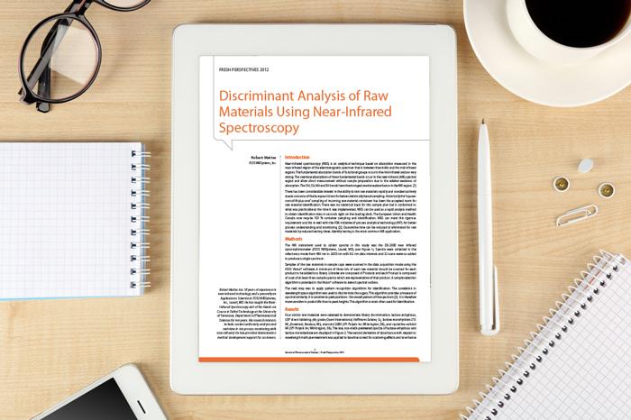 Discriminant analysis of raw materials whitepaper